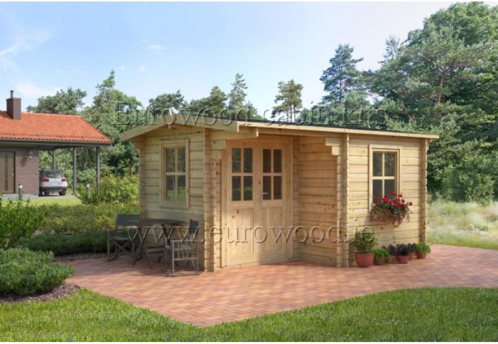 Dārza mājiņa  ALPINA 4x3 m (12 m²), 34 mm
