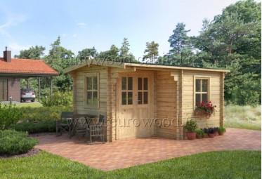 Koka namiņš ALPINA 4x3 m (12 m²), 44 mm