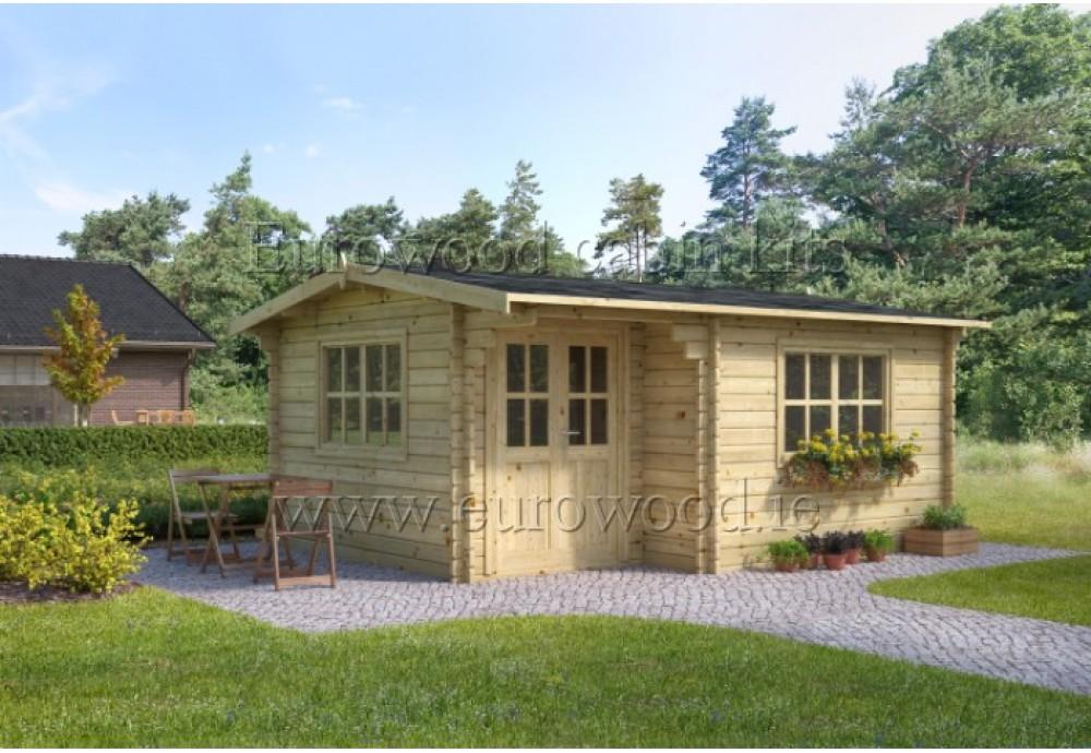 Dārza mājiņa ALPINA plus 5x4 m (20 m²), 44 mm