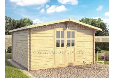 Dārza mājiņa ASCOT 4x4 m (16 m²), 34 mm