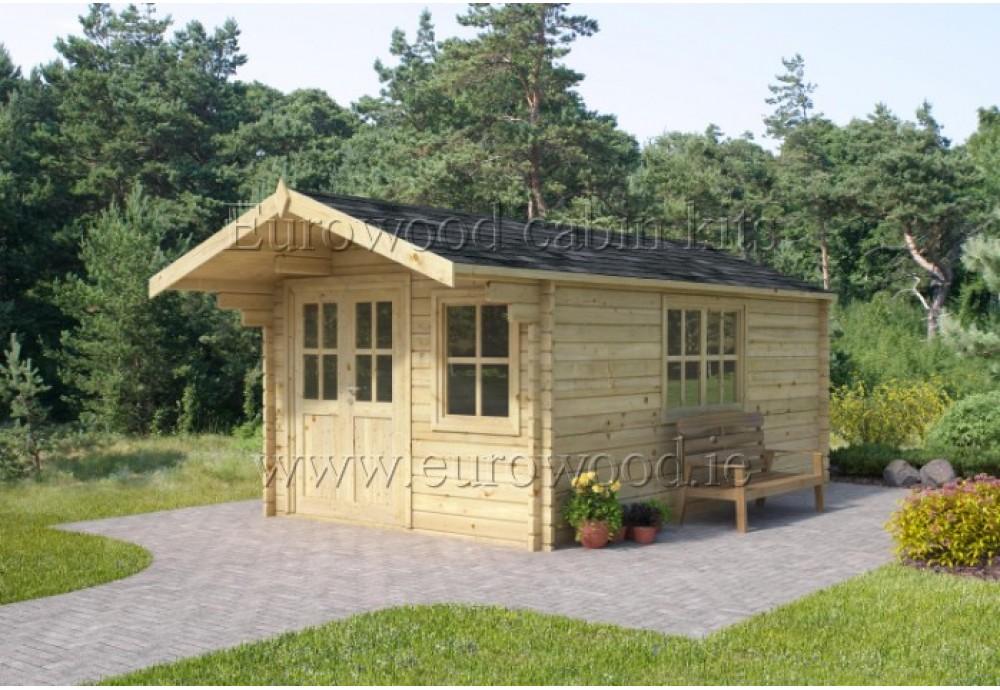 Dārza mājiņa SAVONA PLUS 3x4 m (12 m²), 44 mm
