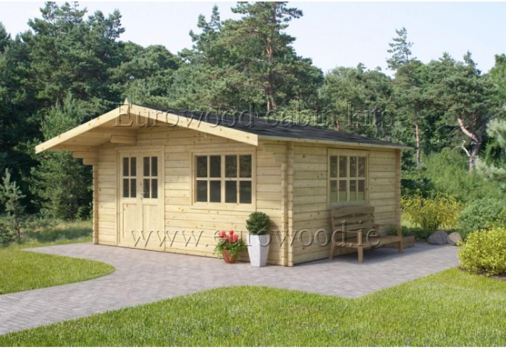 Dārza mājiņa SAVONA plus 5x5 m (25 m²), 44 mm