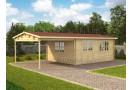 Koka mājiņa BRAVO 8 x 4 m (32 m²), 44 mm
