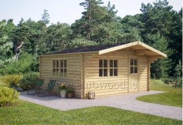 Koka namiņš BREMEN 4x5 m (20 m²), 68 mm