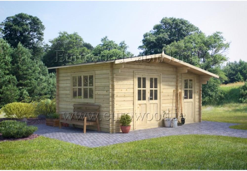 Dārza mājiņa DERBY 4,5x3 m (13,5 m²), 34 mm