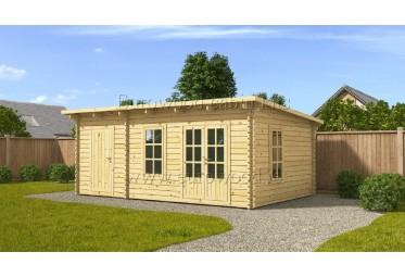Dārza mājiņa DOVER 6x4 m (24 m²), 44 mm