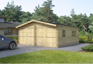 Dubulta koka garāža Double garage 6 x 6 m, 44 mm