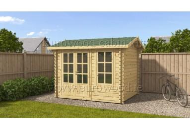 Dārza mājiņa KENT 3x2,5 m (7,5 m²), 44 mm