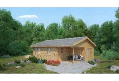 Dārza mājiņa LORA 51m² (6 x 8.5m), 44 mm