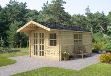 Dārza mājiņa MALAGA 3x4 m, 34 mm