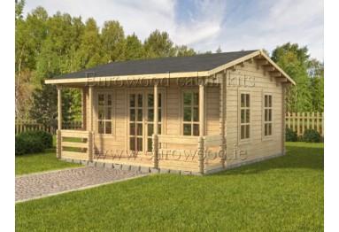 Dārza mājiņa MALTA 5x5.12 m (25 m²), 44 mm