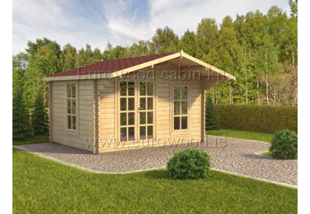 Dārza mājiņa MILANO 4x3 m, 44 mm
