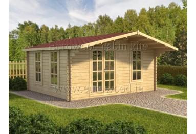 Dārza mājiņa MILANO 4x4 m, 44 mm