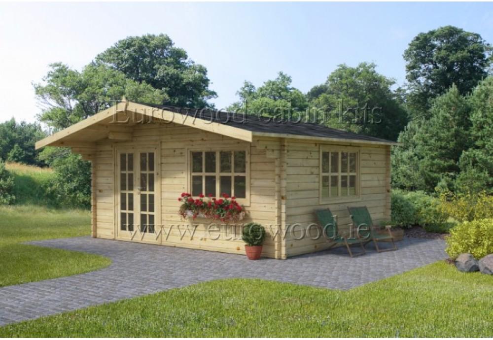 Dārza mājiņa MONACO 4x5 m (20 m²), 44 mm