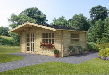 Dārza mājiņa MONACO 5x5 m (25 m²), 44 mm