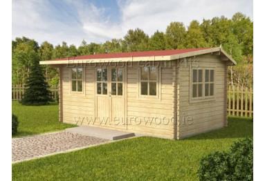 Dārza mājiņa NIDA 5x3 m (15 m²), 34 mm