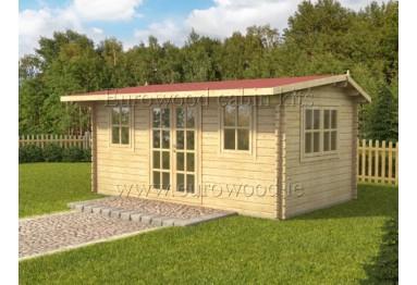 Dārza mājiņa NIDA 5x3 m (15 m²), 44 mm