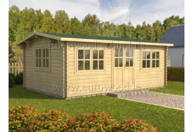 Dārza mājiņa OSLO 6x4 m (24 m²), 44 mm