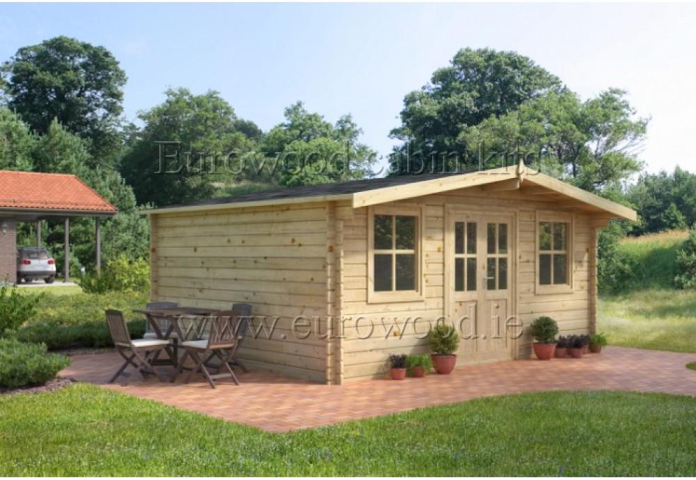 Dārza mājiņa OXFORD 4 x 3 m (12 m²), 34 mm