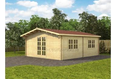 Koka mājiņa PISA 30m² (5 x 6 m), 44 mm