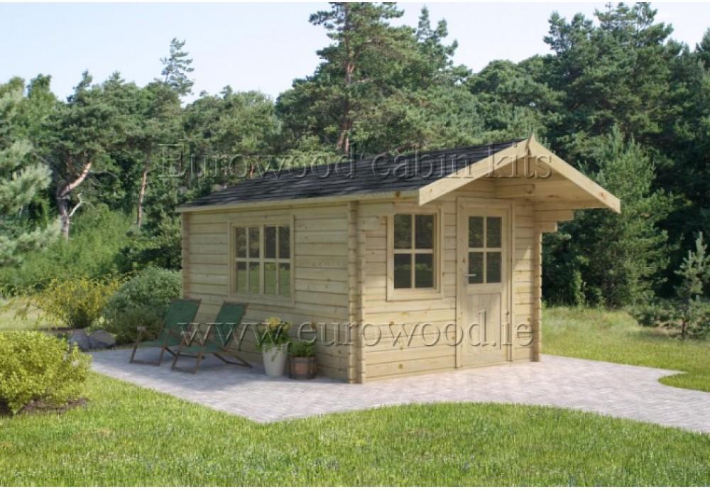 Dārza mājiņa PORTO 3x3 m, 34 mm