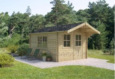 Dārza mājiņa PORTO 3x4 m, 34 mm