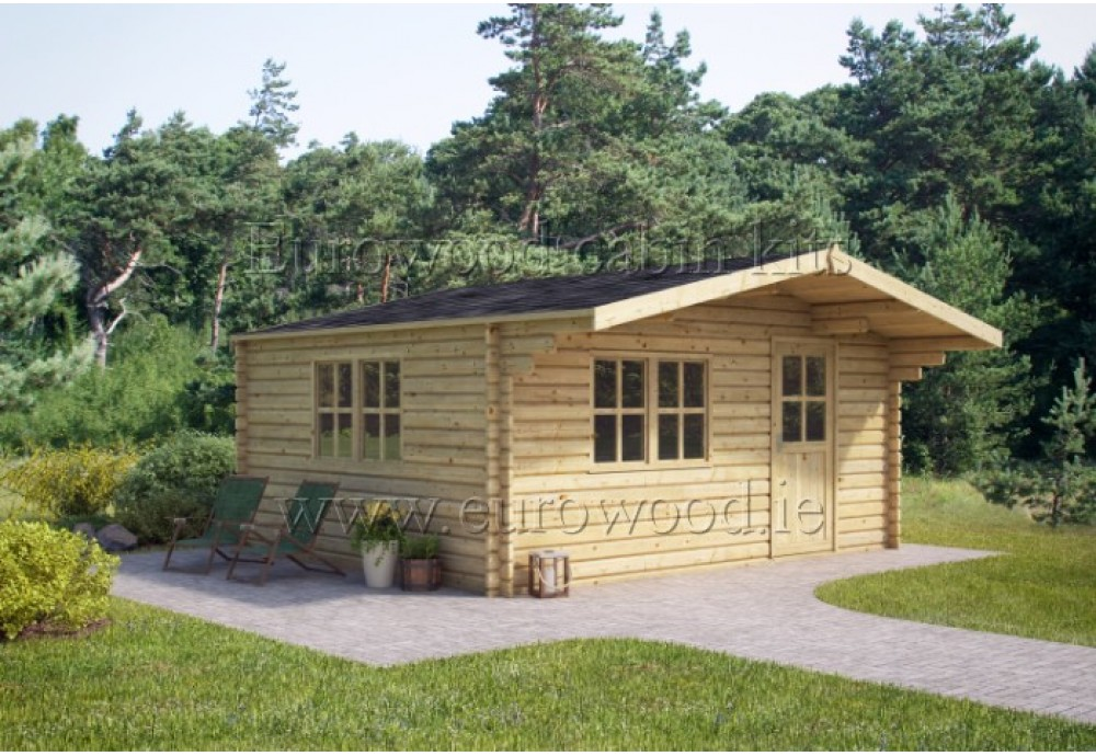 Dārza mājiņa PORTO 4x4 m, 34 mm