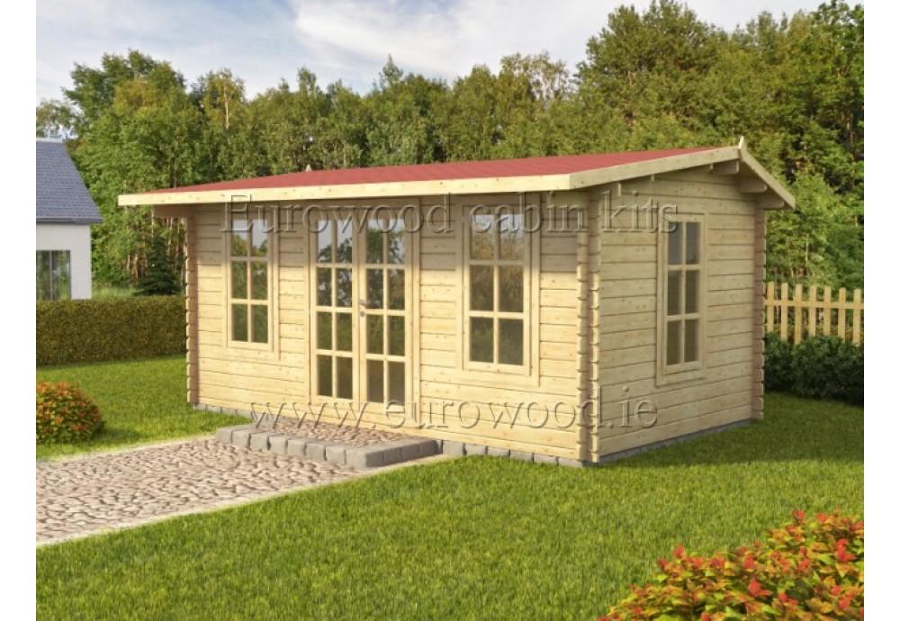Dārza mājiņa ROME plus 5x3 m (15 m²), 44 mm