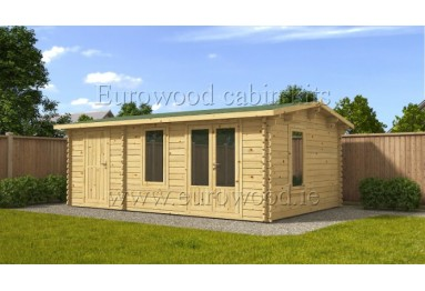 Dārza mājiņa ROSE 6x4 m (24 m²), 44 mm