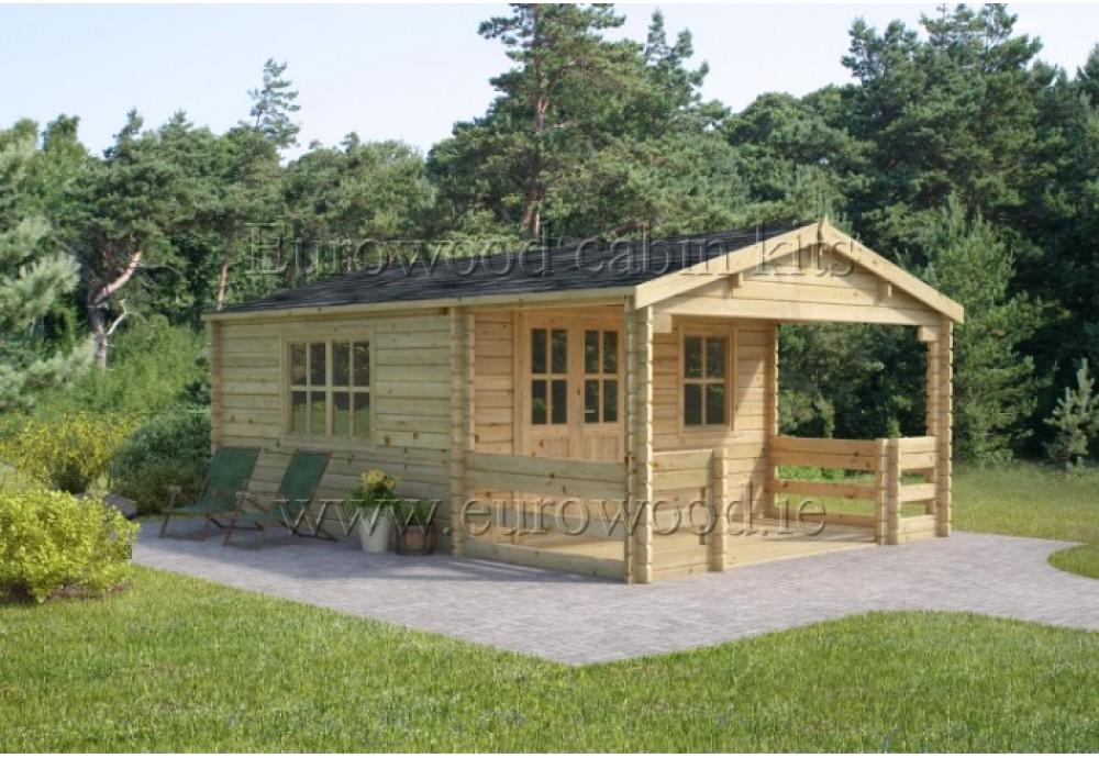 Dārza mājiņa ROY 4x6m (24m²), 44 mm