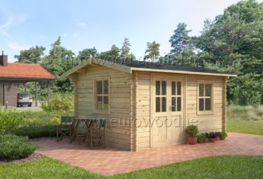 Dārza mājiņa RUMUS 4x3 m, 44 mm