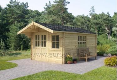 Dārza mājiņa SAVONA 3x4 m (12 m²), 34 mm