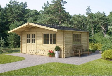 Dārza mājiņa SAVONA 5x5 m (25 m²), 34 mm