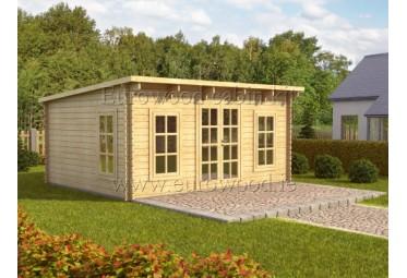 Dārza mājiņa TORINO PLUS 5x4 m (20 m²), 44 mm