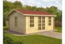 Dārza mājiņa VERONA Plus 20 m² (5x4 m), 44 mm