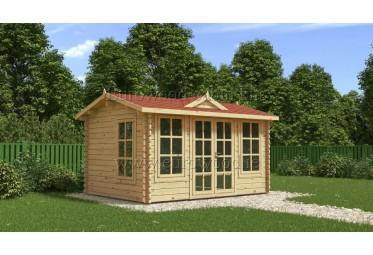 Dārza mājiņa CLOCKHOUSE 4x3 m (12 m²), 44 mm