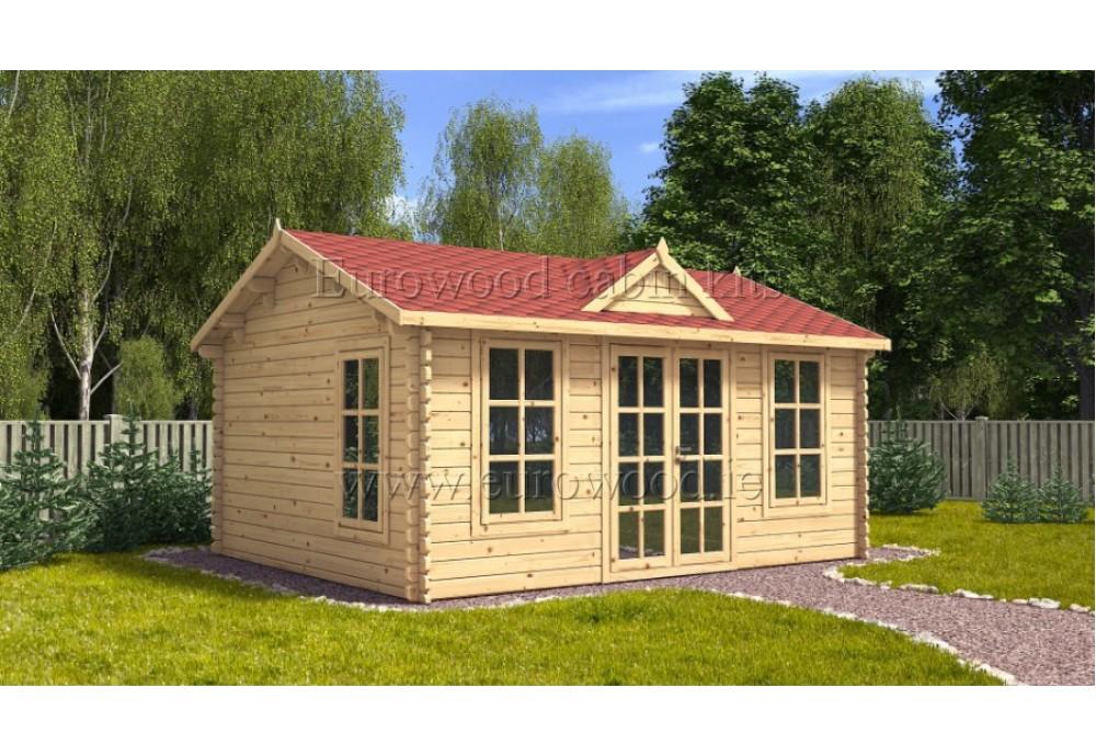 Dārza mājiņa CLOCKHOUSE 5x4 m (20 m²), 44 mm