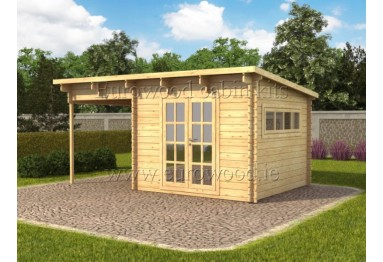 Koka mājiņa NATALY 5 x 3m (15 m²), 34 mm